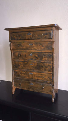 an oak wood master cabinet with 6 drawers, first half of 20th century