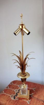 Boulanger reed -Hollywood Regency-style palm table lamp ?