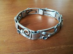 Danish design Art Deco silver bracelet, by Eiler & Marloe 1920-1967