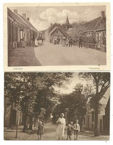 Lot consisting of 82 postcards from Dutch towns and villages