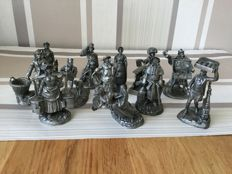 12  The Cries of London , Fine Pewter Ornaments - Franklin Mint