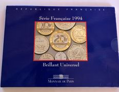 France - Monnaie de Paris - 1994 BU box set (10 coins)