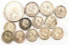 Spain — Centenary of the Peseta — lot of 13x silver coins — Madrid