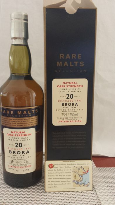Brora 1975 20 years old - Rare Malts - OB