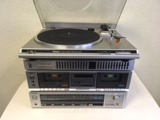 Technics hi-fi set with Akai Cube PB70 speakers