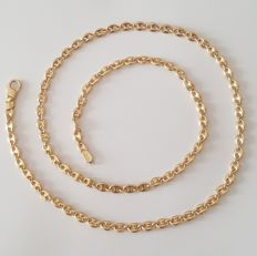 18 kt solid yellow gold necklace with cable style links – Length: 50 cm