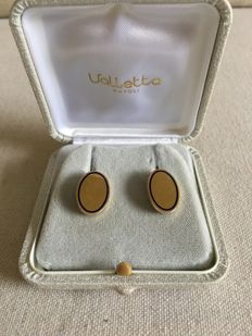 18 kt yellow gold oval-shaped cufflinks ***No reserve price***