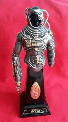 Franklin mint star trek borg figuur
