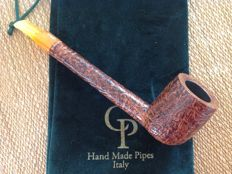 CP pipe, long shank Lovat shape,  great blasted briar, hand made, Italy !!