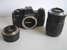 Praktica B 100 electronic 1981 with 2 lenses