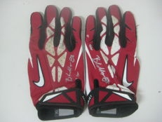 Used NFL receiver gloves NIKE signed by  New York Giants BRANDON MYERS with JAG / COA certificate