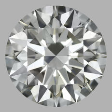 Round Brilliant 1.00ct - H VS2 - 3EX - IGI  -Original Image 10X  -Amazing Diamond