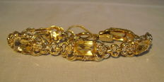 Bracelet with faceted citrines totalling approx. 25 ct