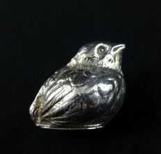 Silver salt cellar in the shape of a sparrow, Germany, 20th century