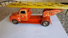 Tippco, US Zone Germany - length 24 cm - Tin fire engine with friction motor, 1950s
