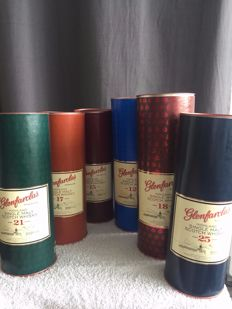 6 bottles - Glenfarclas Collection: 25 years, 21 years, 18 years, 17 years, 15 years & 12 years