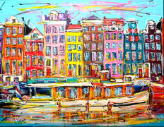 Mathias -  Canal of Amsterdam, tourist boat