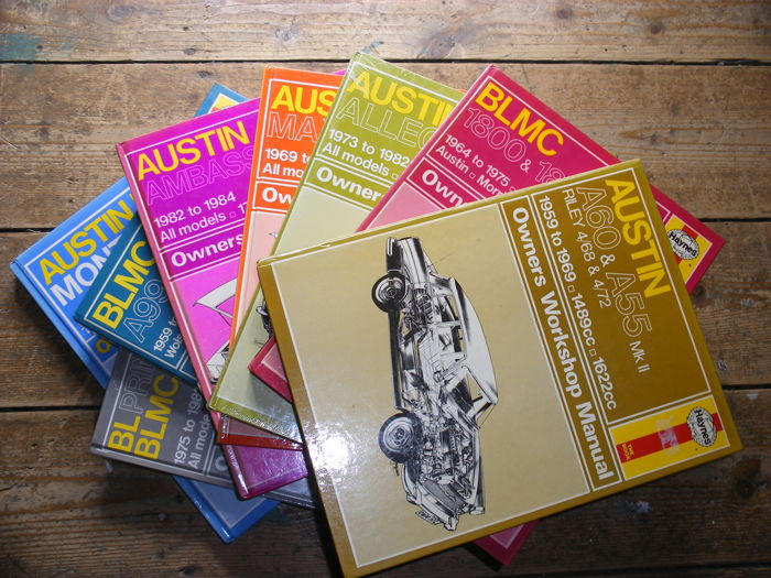 A lot with 8 Austin/BL/BLMC Haynes Owners Workshop Manuals 1959 - 1989