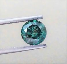 Fancy VIVID Blue - Brilliant Cut  - 2.19 carat   - SI2  clarity - Natural Diamond - Comes With IGL Certificate + Laser Inscription On Girdle