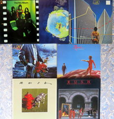 Progressive Rock : 7 LP Albums by Yes (4x) and Rush (3x)