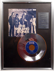 "The Rolling Stones - Little Queenie - 7"" Single Decca Records platinum plated record Special Edition"