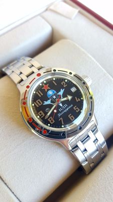 "Vostok ""Amphibian - VDV"" - Men's Automatic wristwatch in mint condition (never worn).1990's"