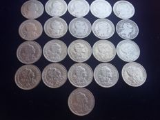 Portugal – Complete collection of one escudo coins, 21 coins in total – 1927 to 1968 – Lisbon