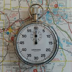 LEONIDAS stopwatch  / 1970 - 1979 / Race time keeping / Sports stopwatch