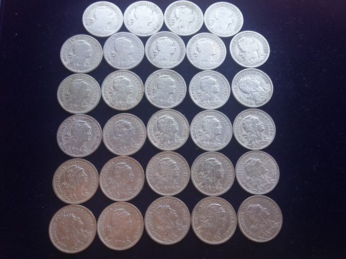Portugal Complete Set Of 29x 50 Cent Coins 1927 To 1968 Lisbon