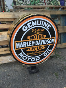 Large and rare Harley Davidson lightbox - 79 x 63 x 18 cm - illuminated advertising sign - xxl dealer sign - 1990s