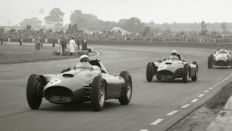 1956 British Grand Prix Ferrari Portago & Collins. 54cm x44 cm. Great Image.