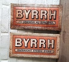 """BYRRH"" metal advertising signs, circa 1910"