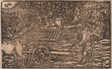 Hans Weiditz (1500--1536) - Medieval country workers included the plower and workers in the vineyard- Ca 1530