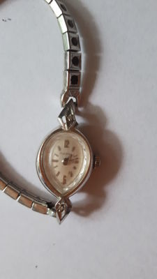 Bulova - old wristwatch for women - 14 kt/585 white gold