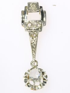 Bicolored Art Deco diamond pendant, anno 1920