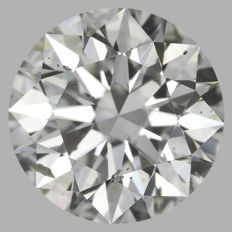 Round Brilliant 1.88ct  H SI1  3EX - EGL USA -Original Image 10X #2090