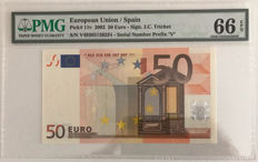 European Union - Spain - 50 euro 2002 - currency note - Pick 11v