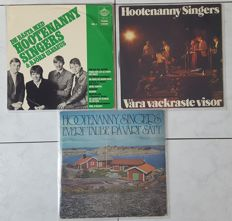 THE HOOTENANNY SINGERS - lot of 3 different original LP's | made in Sweden | pré - ABBA (Björn Ulvaeus)