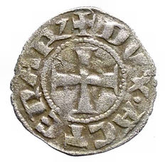 Duchy of Athens - Billon denier tournois Gui II de la Roche (1287-1308)