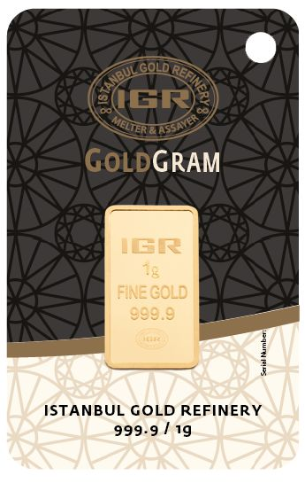 1 gramo - Oro .999 (24 quilates) - IGR - Sello + certificado