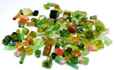 Lot of Green , Pink , Watermelon Tourmaline Crystals - 50 gm