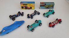 Corgi Toys - Scale 1/43 - Lot with 6 Race Models: Nos.152 (2 x), 153, 154, 156 (x 2) and empty box 158