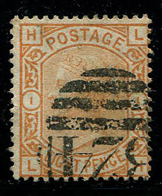 Great Britain 1873/80 – Queen Victoria – 8 pence orange, Stanley Gibbons 156, Used In Guernsey
