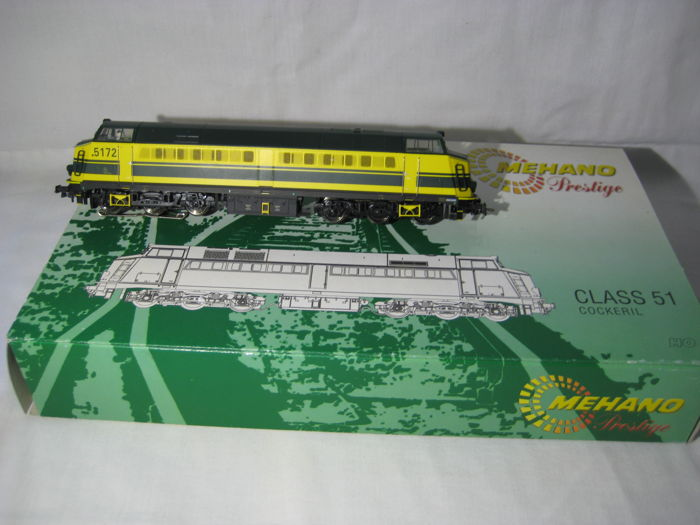 "Mehano Prestige H0 - 6330 - Diesel locomotive Series 51 ""cocokeril"" of the NMBS"