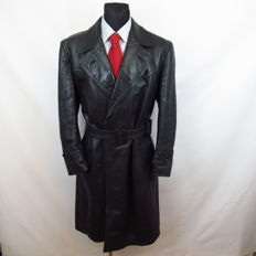 Unique Item - Vintage Long Leather Coat - Superb condition! - No Reserve!