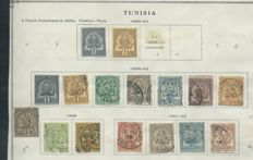 French Colonies – Collection on album pages with i.a. Tunisia, Vietnam, Cambodia and others