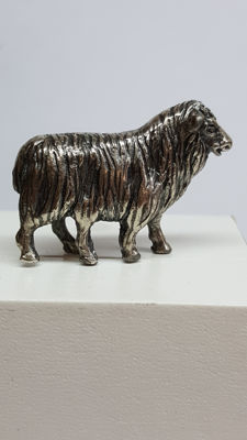 Silver sheep with five legs