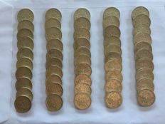 France - 5 Francs 1963 'Semeuse' (lot of 50 coins) - Silver