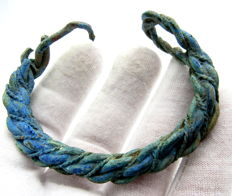 "Viking bronze twisted bracelet ""fielty ring"" - 57 mm"