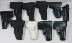 Lot of 10 semiautomatic pistol cases.
